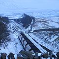 A loaded coal train heads south on the Settle and Carlisle line - geograph.org.uk - 1152998 (cropped).jpg