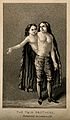 A man with two heads and two trunks, 1716. Aquatint. Wellcome V0007387.jpg