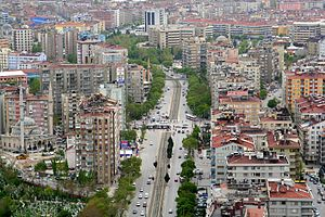 A view of Avenue Nalçacı in Konya