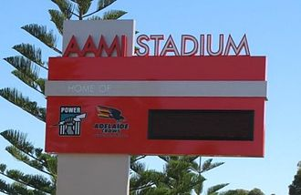 Football Park - AAMI Stadium sign