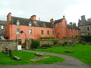 Abbot House, Dunfermline - The Abbot House seen from the grounds of Dunfermline Abbey