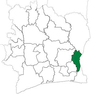 Abengourou Department - Abengourou Department upon its creation in 1969. It kept these boundaries until 1995, but other departments began to be divided in 1974.