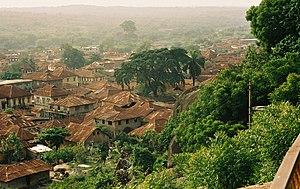 View of Abeokuta, Ogun State, Nigeria from the...