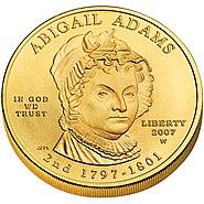 Abigail Adams First Spouse Coin obverse