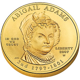 Abigail Adams - Image: Abigail Adams First Spouse Coin obverse