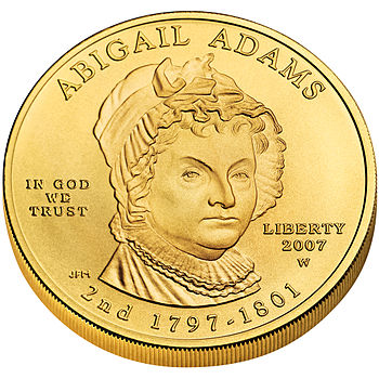 English: First Spouse Program coin for Abigail...