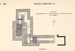 S 9 (Abydos) - Plan of the substructures of the tomb S9 in Abydos as uncovered by the 1901—1902 excavations.