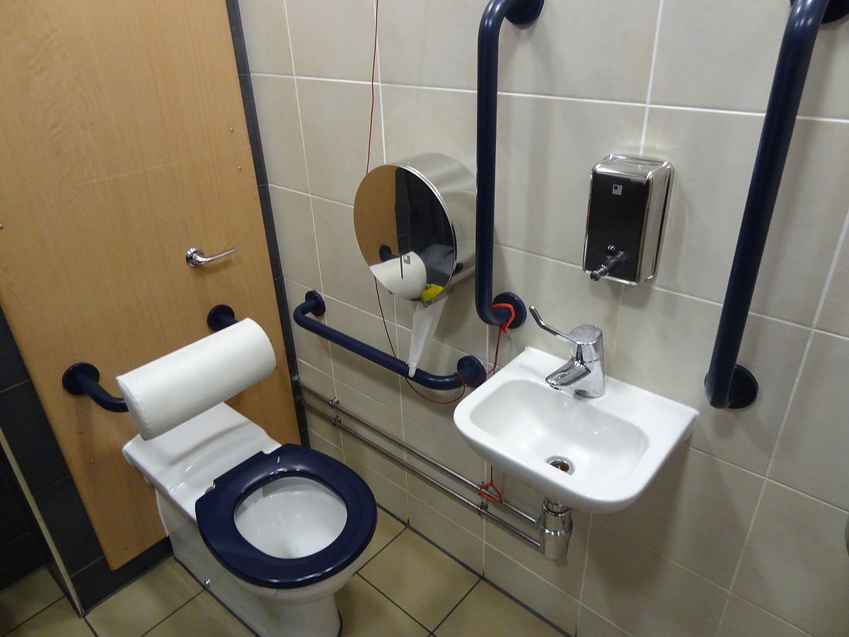 Accessible Toilet Wikipedia - Bathroom modifications for disabled