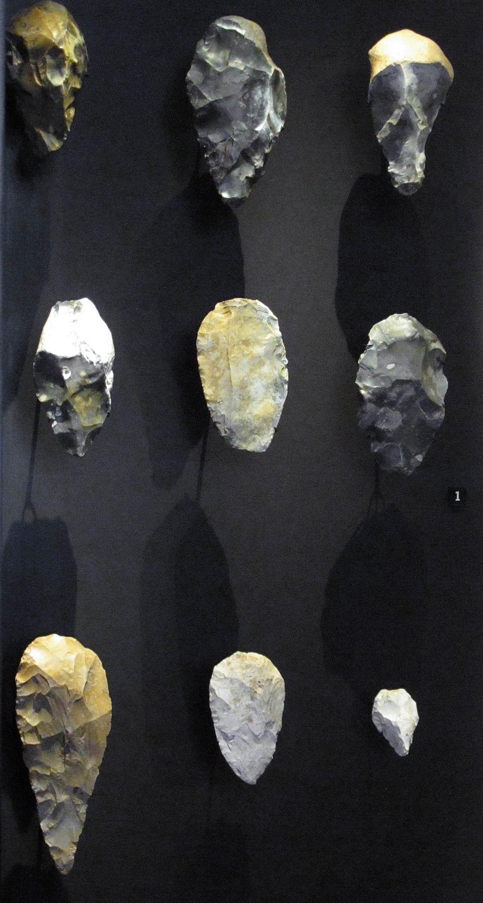 Acheulean implements. Flint. Abbeville, St Acheul. Neues Museum
