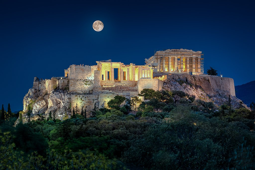 Akropolis in Athen (UNESCO-Welterbe in Griechenland). Acropolis Of Athens Greece