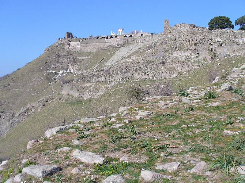 Bestand:Acropolis from middle city Pergamum 466.jpg