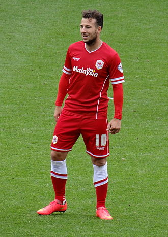 Adam le Fondre - Le Fondre on his home debut for Cardiff City, in a match against Huddersfield Town.