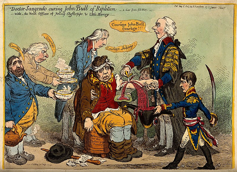 File:Addington bleeding the exhausted John Bull who is supported Wellcome V0011311.jpg