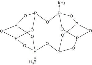 Adduct of phosphorus oxide with BH3.png