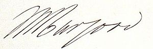 William Hargood - William Hargood's signature