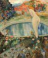 Adolphe Feder, Femme nue dans un parc.jpg