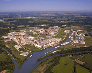 Tulsa Port of Catoosa - Aerial photo of the Tulsa Port of Catoosa taken May 5, 2008