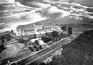 Niagara Scow - Image: Aerial view of the Toronto Power Plant and the Upper Rapids of the Niagara River