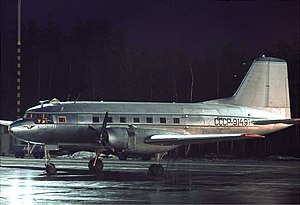 Ilyushin Il-14 - Il-14G of Aeroflot at Arlanda Airport in 1970