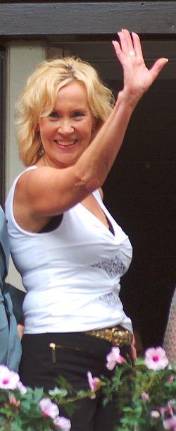 Agnetha Fältskog vid premiären för Mamma Mia i Stockholm 4 juli 2008