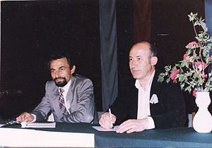 Movement for Rights and Freedoms - Ahmed Dogan (left) at the foundation conference