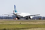Air New Zealand (ZK-OJK) Airbus A320-232 taking off on runway 25 at Sydney Airport.jpg