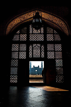 Secularism in India - Akbar's tomb at Sikandra, near Agra India. Akbar's instruction for his mausoleum was that it incorporate elements from different religions including Islam and Hinduism.