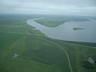 Alameda, Saskatchewan - Image: Alameda Reservoir Alameda Dam (625135522)