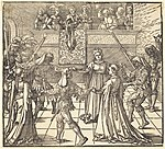 Albrecht Dürer, Masquerade Dance with Torches, probably 1516, NGA 6801.jpg