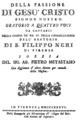 Alessio Prati - La passione - titlepage of the libretto - Florence 1786.png