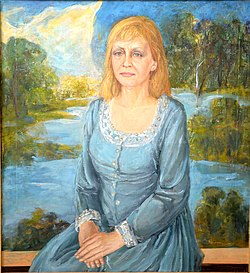 Alexey Kuzmich Portrait of actress Maria Zakharevich 2001.JPG
