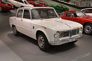 Alfa Romeo Giulia - An Alfa Romeo Giulia TI Super, on display in the Alfa Romeo Museum