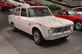 Alfa Romeo Giulia - An Alfa Romeo Giulia TI Super, on display in the Alfa Romeo Museum