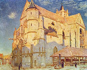 L'Église de Moret (plein soleil)