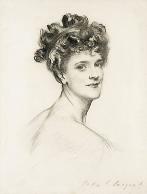 Sir Gerard Lowther, 1st Baronet - Alice, Lady Lowther (John Singer Sargent)