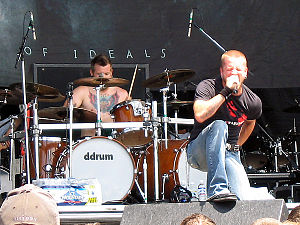 All That Remains (band) - Shannon Lucas and Phil Labonte performing at Ozzfest 2006