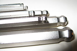 Hex key - Hex keys of various sizes with ball ends.