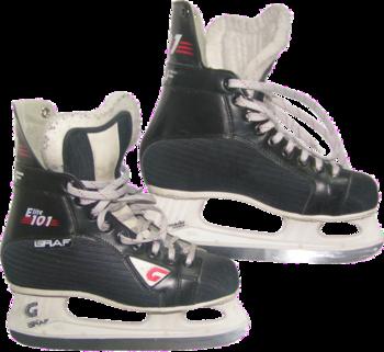 English: amateur ice hockey skates with transp...