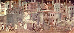 Ambrogio Lorenzetti, The Allegory of Good Gove...