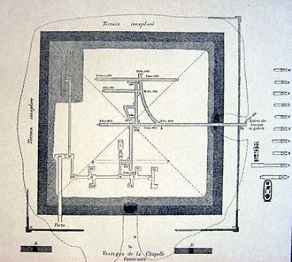 Nubhetepti-khered - Image: Amenemhat III Dahchour plan souterrains 2