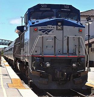 GE Dash 8-32BWH modern passenger train locomotive used by Amtrak