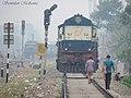 An ALCo waits as the home signal is at 'ON' - Flickr - Dr. Santulan Mahanta.jpg