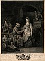 An old physician is taking a young woman's pulse and pointin Wellcome V0016063.jpg