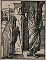 An old woman gives a physician an urine sample for him to te Wellcome V0015130ER.jpg
