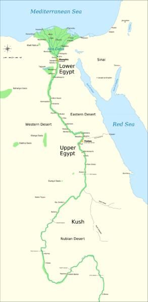 Resourcesforhistoryteachers - Map of upper egypt
