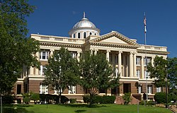 The Anderson County Courthouse in Palestine