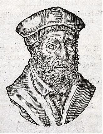 Andrea Alciato - Portrait of Andrea Alciato, reproduced from the 1584 edition of his emblem book