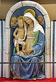 Andrea della robbia, madonna col bambino tra i ss. sebastiano e antonio abate (collez. rita d'annunzio lombardi) 03.JPG