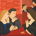 "Andrew Stevovich oil painting, Aztec Lounge, 2007, 24"" x 24"".jpg"