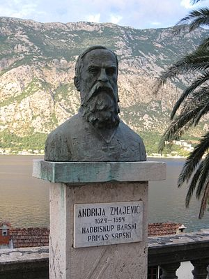 Andrija Zmajević - Bust of Andrija Zmajević